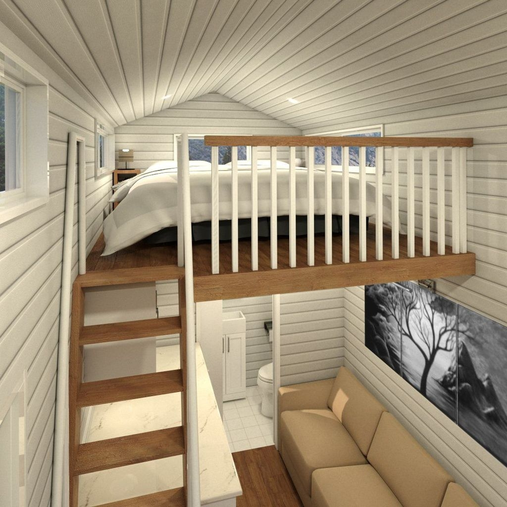Rustic Tiny House Design Ideas With Two Beds21
