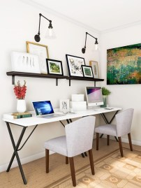 Splendid Monochrome Home Office Decor Ideas To Apply Asap02