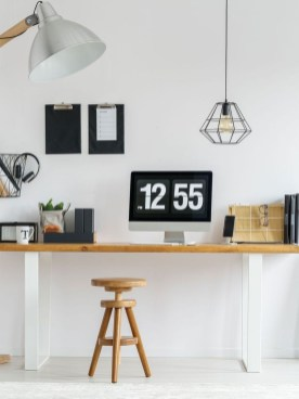 Splendid Monochrome Home Office Decor Ideas To Apply Asap08