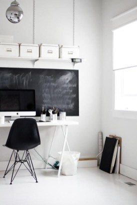 Splendid Monochrome Home Office Decor Ideas To Apply Asap15