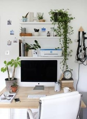 Splendid Monochrome Home Office Decor Ideas To Apply Asap17