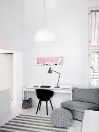 Splendid Monochrome Home Office Decor Ideas To Apply Asap37