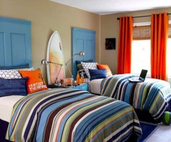 Vintage Shared Rooms Decor Ideas For Teen Boy34