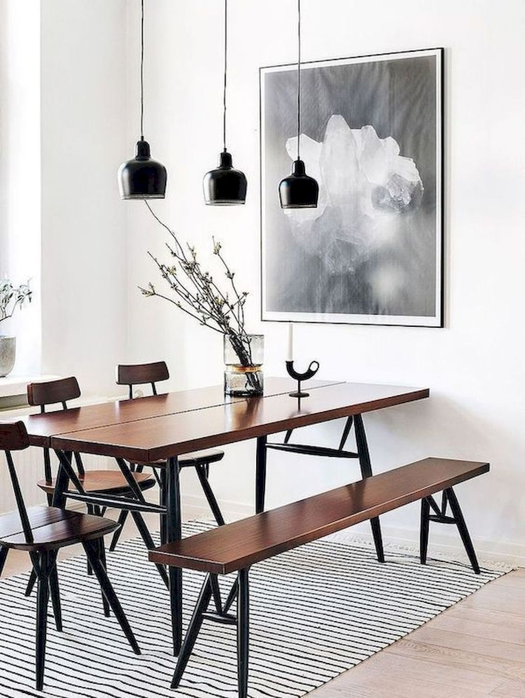 Best Minimalist Dining Room Design Ideas For Dinner With Your Family40