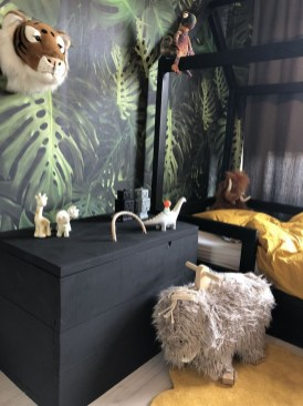 Charming Kids Bedroom Ideas With Jungle Theme To Try05
