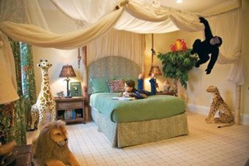 Charming Kids Bedroom Ideas With Jungle Theme To Try07