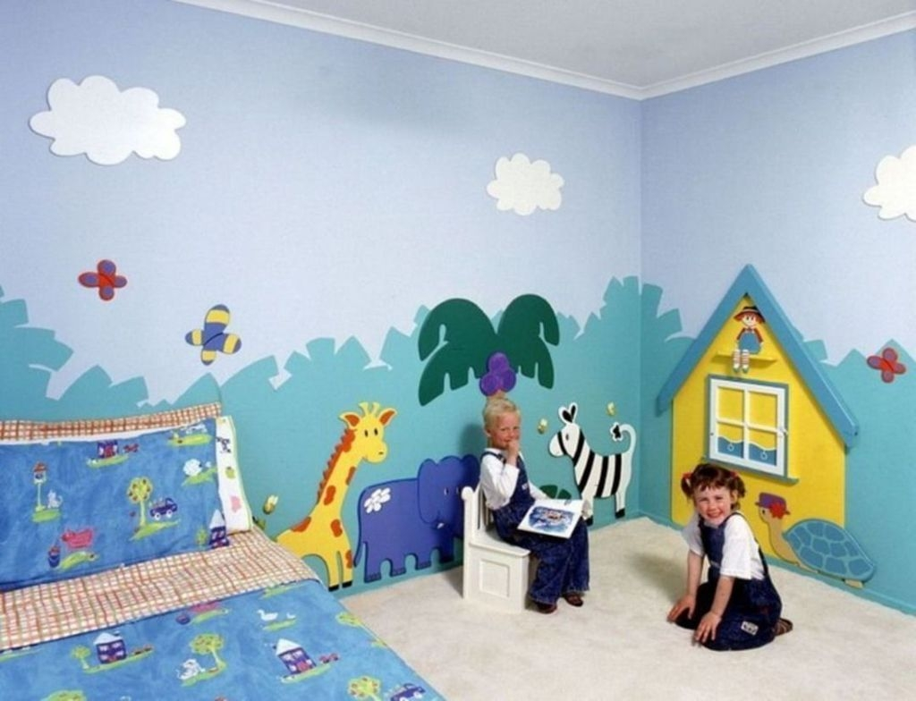 Charming Kids Bedroom Ideas With Jungle Theme To Try11