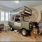 Charming Kids Bedroom Ideas With Jungle Theme To Try31