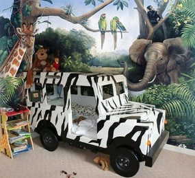 Charming Kids Bedroom Ideas With Jungle Theme To Try37