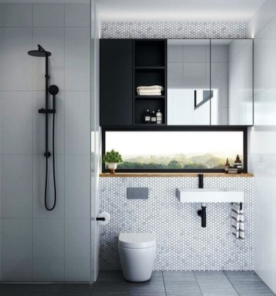 Cute Minimalist Bathroom Design Ideas For Your Inspiration33