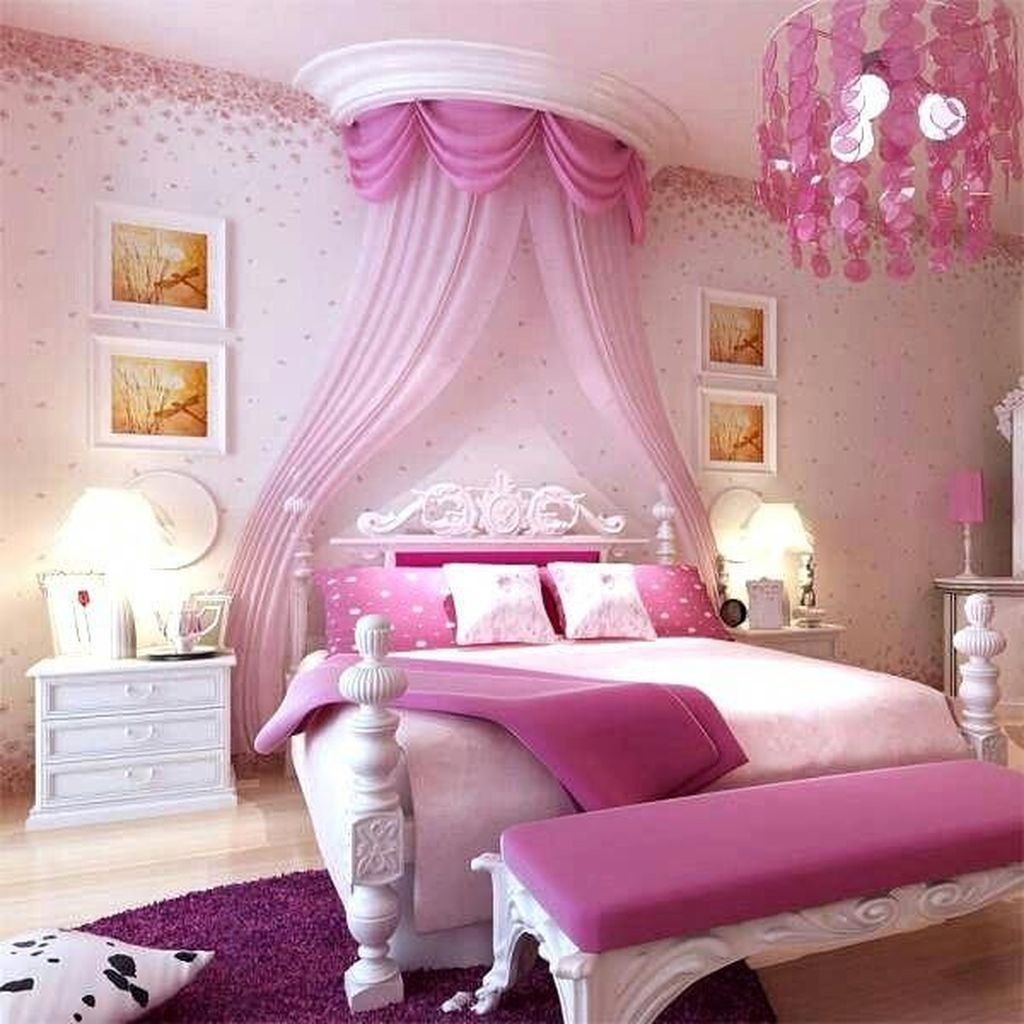 Pretty Princess Bedroom Design And Decor Ideas For Your Lovely Girl24