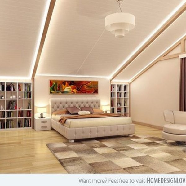 Unordinary Ceiling Design Ideas For Your Bedroom46