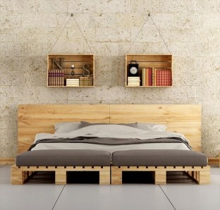 Unordinary Recycled Pallet Bed Frame Ideas To Make It Yourself34