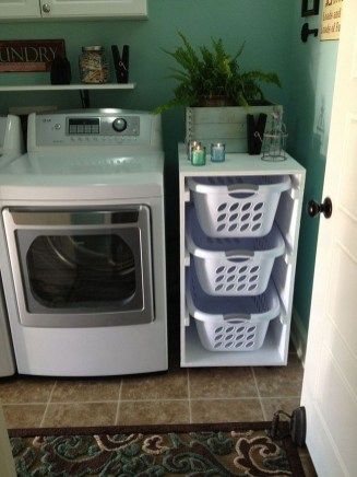 Cute Laundry Room Storage Shelves Ideas To Consider16
