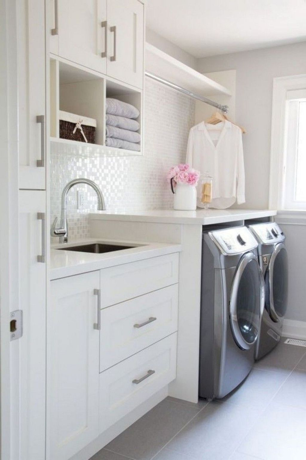 Cute Laundry Room Storage Shelves Ideas To Consider33