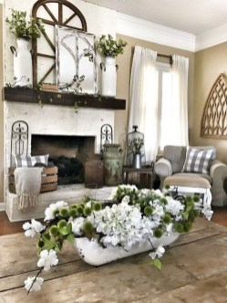 Gorgeous Country Farmhouse Decor Ideas For Living Room24