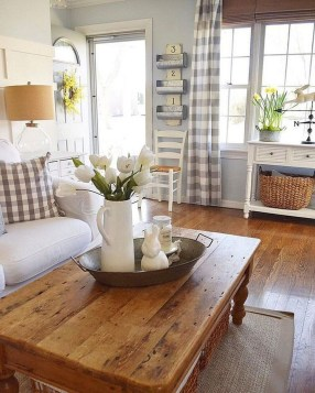 Gorgeous Country Farmhouse Decor Ideas For Living Room33