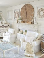 Gorgeous Country Farmhouse Decor Ideas For Living Room34