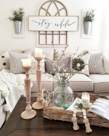 Gorgeous Country Farmhouse Decor Ideas For Living Room36