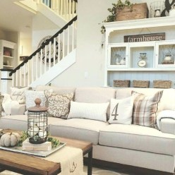Gorgeous Country Farmhouse Decor Ideas For Living Room40
