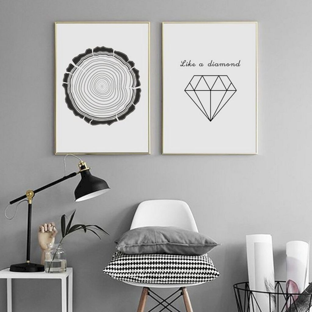 Impressive Minimalist Wall Art Decoration Ideas To Copy Right Now09