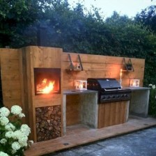 Newest Outdoor Kitchen Decoration Ideas To Make Cozy Kitchen02