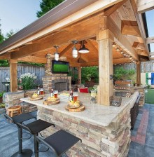 Newest Outdoor Kitchen Decoration Ideas To Make Cozy Kitchen05