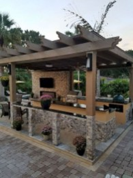 Newest Outdoor Kitchen Decoration Ideas To Make Cozy Kitchen13