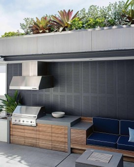 Newest Outdoor Kitchen Decoration Ideas To Make Cozy Kitchen16