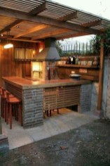 Newest Outdoor Kitchen Decoration Ideas To Make Cozy Kitchen28