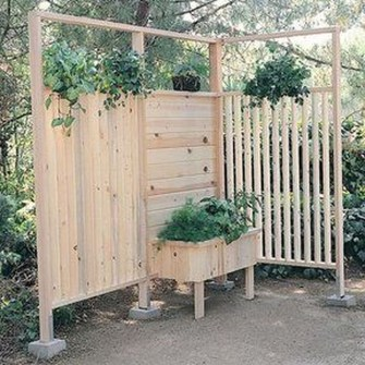 Pretty Privacy Fence Planter Boxes Ideas To Try17