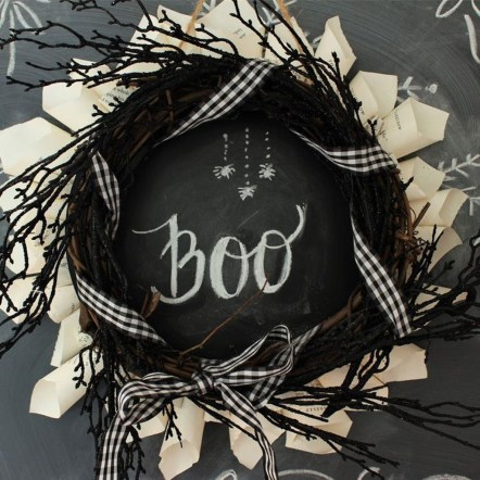 Stunning Diy Halloween Wreaths Design Ideas That Looks Cool25