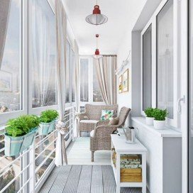 Brilliant Closed Balcony Design Ideas To Enjoy In All Weather Conditions21