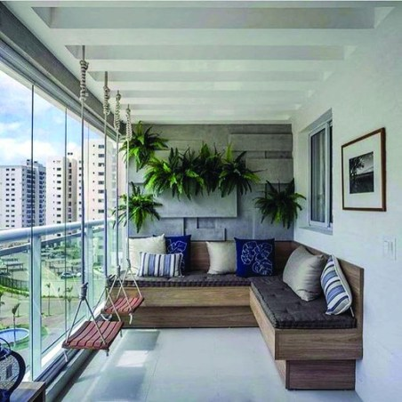 Brilliant Closed Balcony Design Ideas To Enjoy In All Weather Conditions46