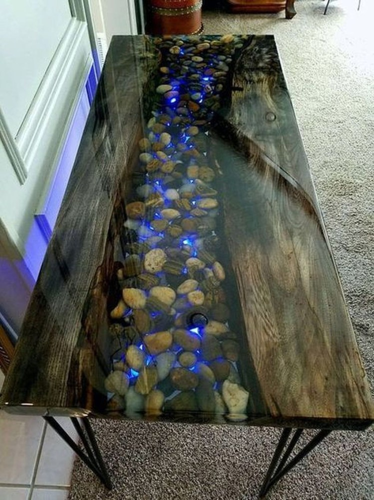 Classy Resin Wood Table Ideas For Your Furniture06