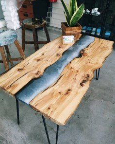 Classy Resin Wood Table Ideas For Your Furniture17