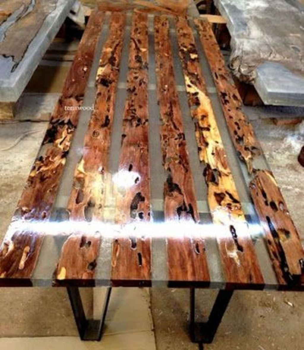 Classy Resin Wood Table Ideas For Your Furniture22