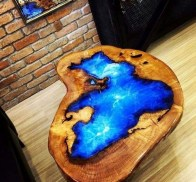 Classy Resin Wood Table Ideas For Your Furniture33