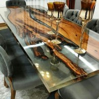 Classy Resin Wood Table Ideas For Your Furniture34