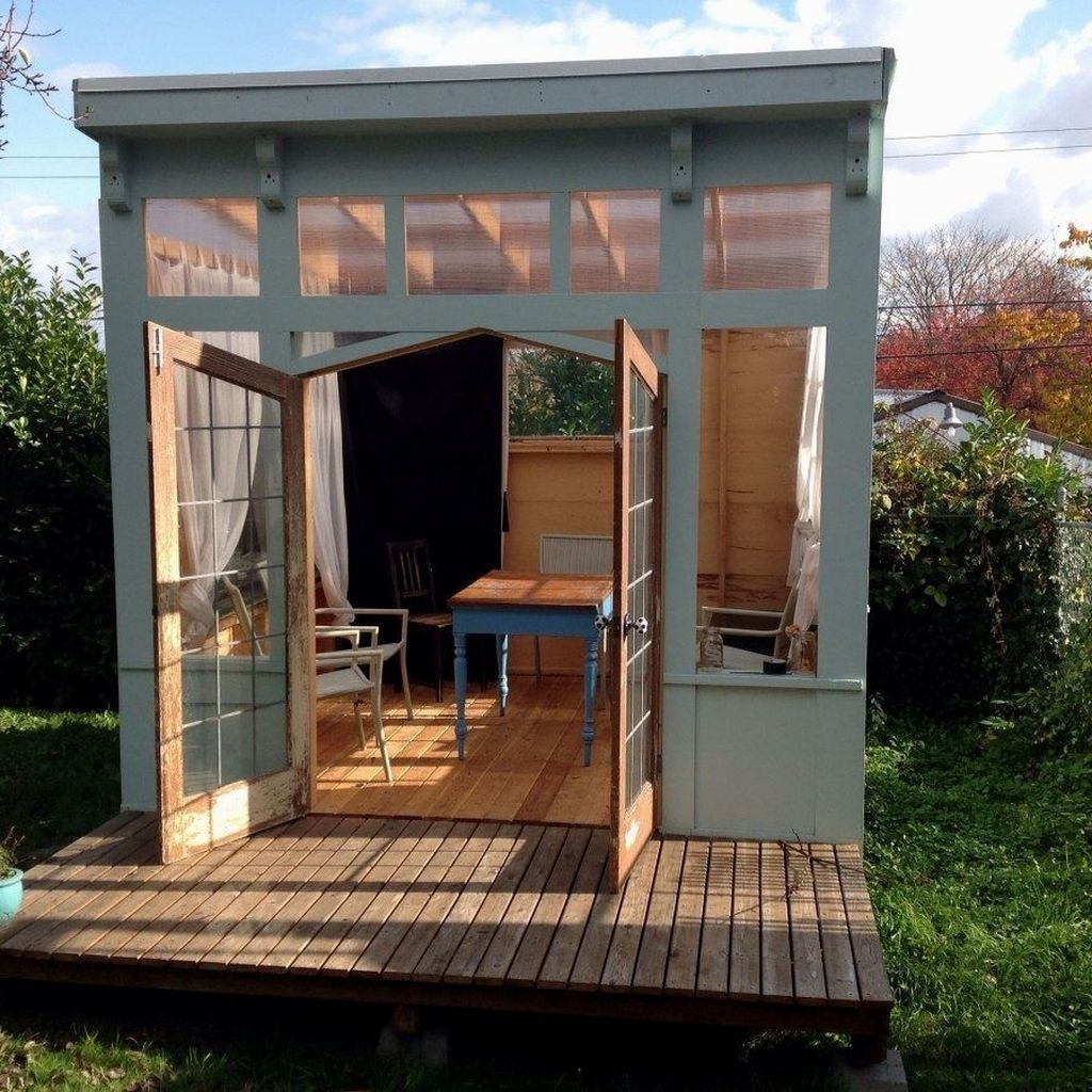Incredible Studio Shed Designs Ideas For Your Backyard21
