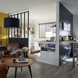 Rustic Tiny Studio Apartment Design Ideas For You23
