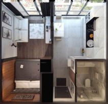 Rustic Tiny Studio Apartment Design Ideas For You34