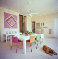 Stunning Dining Room Design Ideas With Multicolored Chairs01