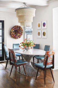 Stunning Dining Room Design Ideas With Multicolored Chairs11