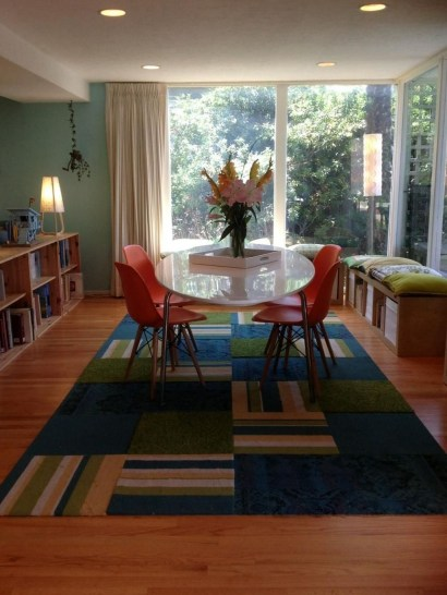 Stunning Dining Room Design Ideas With Multicolored Chairs14