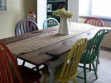 Stunning Dining Room Design Ideas With Multicolored Chairs15