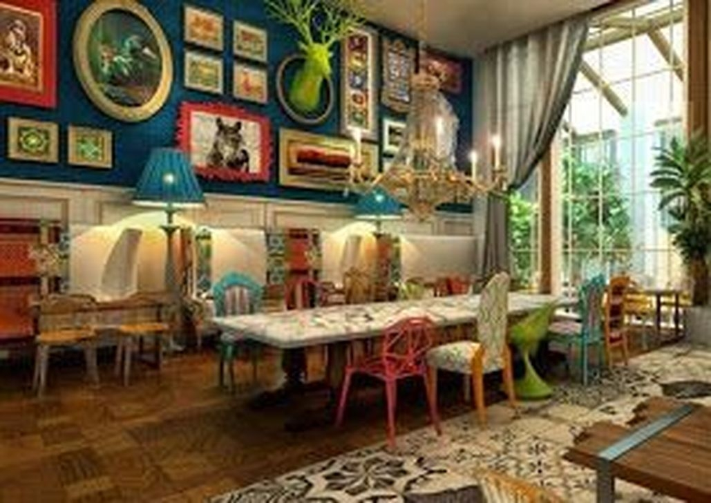 Unordinary Dining Room Design Ideas With Bohemian Style22
