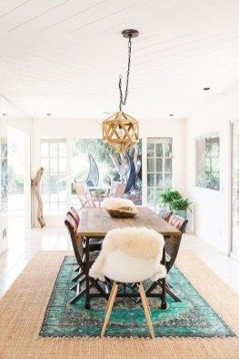 Unordinary Dining Room Design Ideas With Bohemian Style35