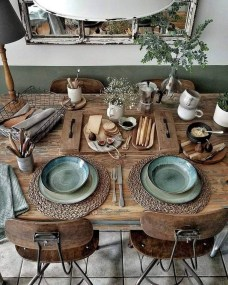 Unordinary Dining Room Design Ideas With Bohemian Style38