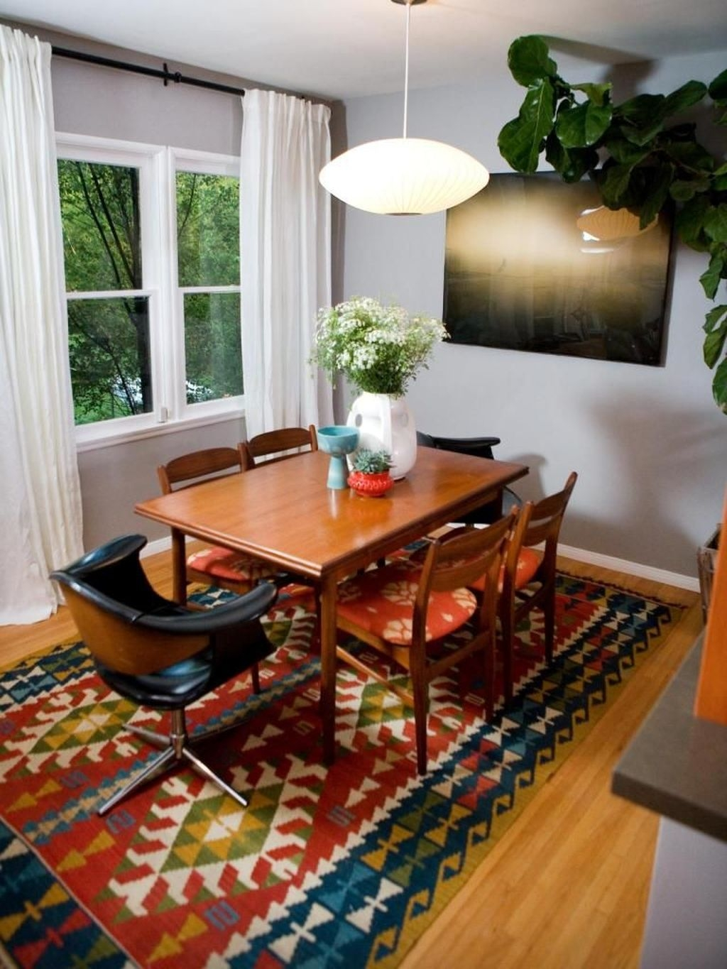 Unordinary Dining Room Design Ideas With Bohemian Style39